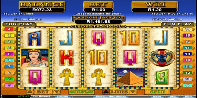 Cleopatra's Gold can be play at Real Time Gaming
