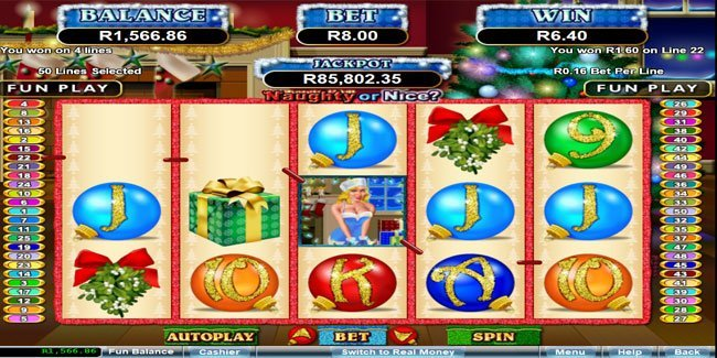 Naughty or Nice? can be play at Real Time Gaming
